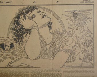 Original 1931 Newspaper Clipping - In Love By Nell Brinkley