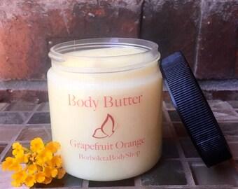 Body Butter Grapefruit Orange All Natural Homemade Moisturizer