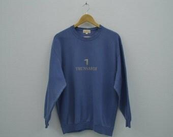 Trussardi Vintage Sweatshirt Vintage Trussardi Pullover Made in Japan Mens Size S/M