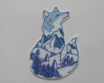Wild Fox iron on patch  Iron on Patch Patches for jackets Fox patch