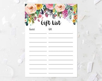 Panda Baby Shower Gift List Printable Baby Shower Gift