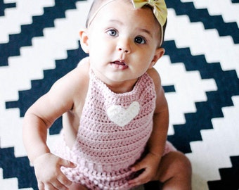 Valentine's Day Baby Outfit, Baby Valentine's Outfit, Pink Baby Romper, Blush Romper, Crochet Baby Romper, Knit Baby Romper, Newborn Romper