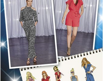 Simplicity 1158 Sewing Pattern Project Runway Jumpsuit with Bodice and Leg Variations and Belt sz 14 thru 22 Uncut