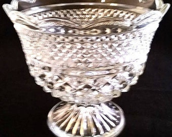 Large Lead Crystal Compote Bowl
