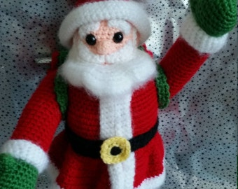 Crochet Santa, Crochet Santa Ornament, Santa Decoration, Crochet Decoration, Christmas Decoration, Crochet Christmas Ornament, Santa Figure