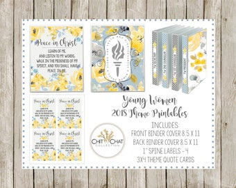 Digital Download - 2018 LDS Young Women Binder Cover Printable Package, Mutual Theme