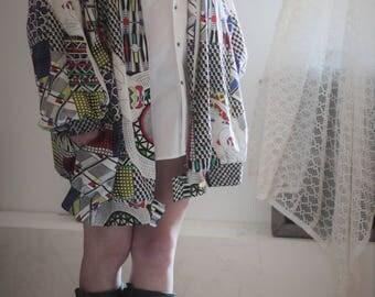 Vintage Givenchy Veste rare, imprimé surréaliste // Exceptionnel Blouson Oversize // Rare Vintage Jacket Oversize Givenchy