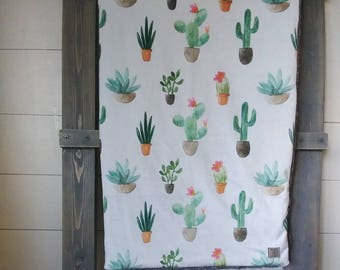 READY TO SHIP.Succulent Blanket. Succulent Lovey. Cactus Nursery. Cactus Blanket. Cactus Lovey. Cactus Nursery. Succulent Nursery. Lovey
