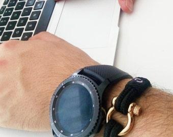 Mens Bracelet / Paracord Bracelet /Paracord Summer Bracelet / Summer Bracelet / Cord Bracelet / Paracord Mens Bracelet / Black Bracelet