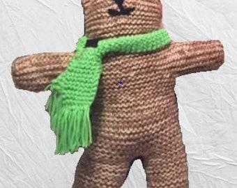 Knit teddy bear cat