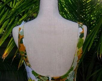 Vintage 70's floral print maxi dress