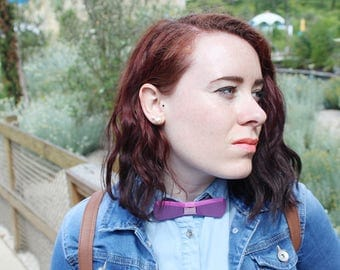 Bow tie 3D print - Magenta and black, pink or stripe