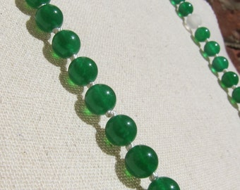 Jade + Matte Crystal Napping Necklace - Genuine Gemstones & Pure Silk Thread