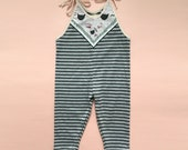 Striped kitty jumpsuit