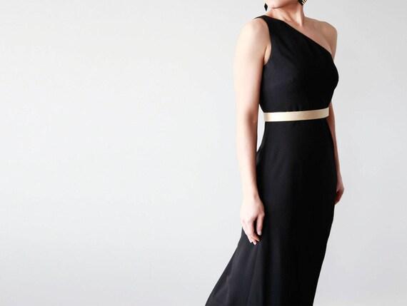 Gold leather waist belt- modern and minimalist sleek women's waist belt- Gold women dress belt- modern wedding belt- bridal belt