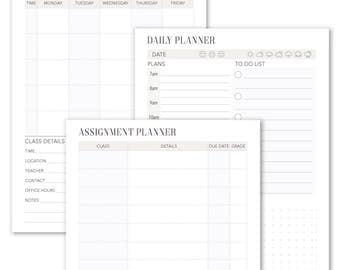 Student Planner Monthly Weekly Daily Planner 15 Pages A4 A5