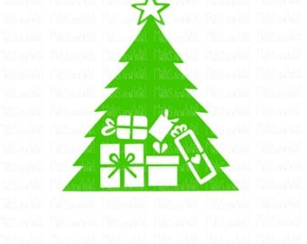 Christmas tree with gifts svg/png/dxf cricut/silhouette cutting file/christmas svg/holiday svg/gift svg/tree svg/christmas present svg/xmas