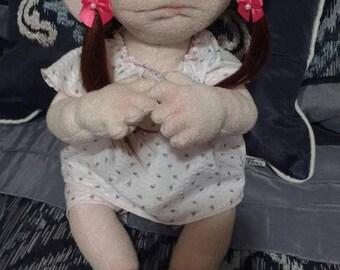 Enchanted orphan baby Janey doll, cloth baby doll, dolls, handmade dolls, cloth doll, Rag doll, soft doll, collector, soft sculpture doll