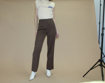 """Size 4 - 27"""" High-Waisted Brown Pants"""