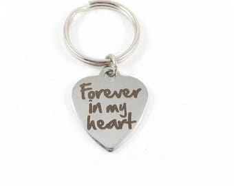 Keychain, Forever Keychain, Forever In My Heart, Keychains for Women, Grief Gift, Condolence Gift, Sympathy Gift, Loss Gift Bereavement Gift