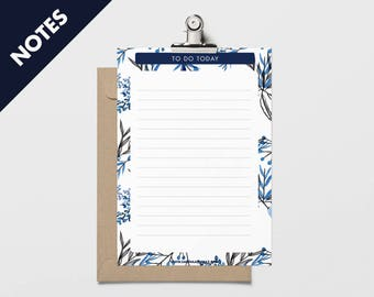 Printable notes. Instant printable paper notes. Schedule notes. Printable A5 notes. Todo list printable download pdf. Print notes pdf A5.