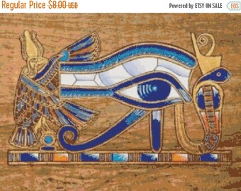 ON SALE Egyptian hieroglyphs logo - 276 x 206 stitches - Cross Stitch Pattern Pdf - INSTANT Download - B835