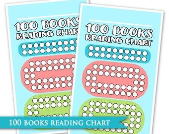 100 Picture Book Reading Chart - Literacy Encouragement Tool Manipulative Toddler Young Child Kindergarten Goal Preschool Reward Handout