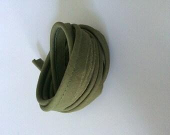 Khaki cotton piping