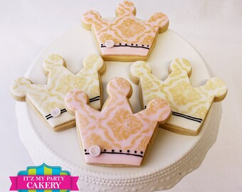 Royal Stenciled Cookies (1 Dozen)