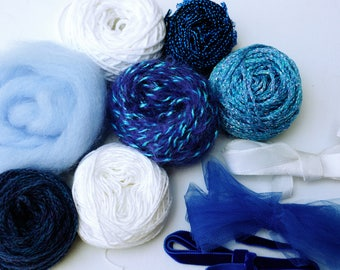 SUMMER COLORS ! Packs of various yarn and fibers for weaving and other textile projects