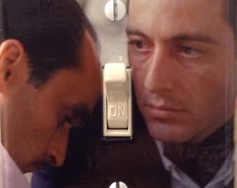 The Godfather Movie Michael and Fredo Corleone Light Switch Cover Mancave Home Theater Den Dorm Bedroom Office Bathroom Free US Shipping