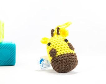 Crochet Giraffe, car accessory, giraffe car decor, crochet animal, giraffe decoration, crochet car buddy,stuffed giraffe, amigurumi