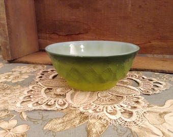Vintage Fire King Green Kimberly Cereal Bowl #21