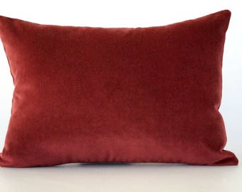 Velvet Lumbar Pillow Cover, red velvet pillow cover, velvet pillow cover, burgundy velvet pillow, lumbar pillow cover