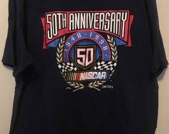 NASCAR 50th Anniversary 1998 vintage t-shirt - 2XL Chase Authentic