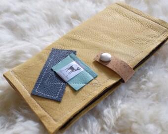 Deerskin and cork boho wallet