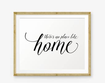 There's no place like home, home decor, wedding gift, Living Room decor, Family quote, Apartment decor, housewarming gift