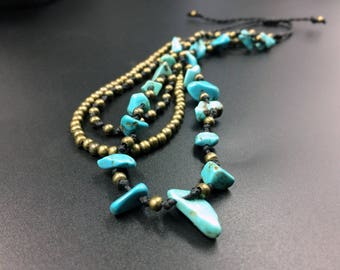 Ankle bracelet of Turquoise