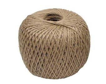 Three strung on jute yarn, jute yarn purple, 60 m