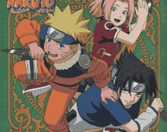 "ON SALE Counted Cross Stitch Patterns - Naruto - 15.71"" x 15.71"" - L918"