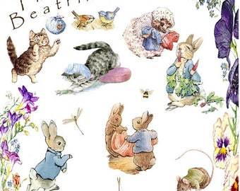 "world of beatrix potter counted Cross Stitch potter Pattern chart pdf format kreuzstitch  korss - 15.71"" x 25.57""  - L1374"