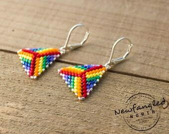 Rainbow Triangle Earrings
