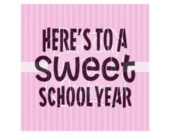 "Here's To a Sweet School Year Cookie Stencils 5.5 x 5.5"" Stencil"