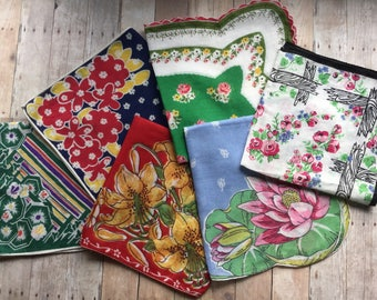 Gorgeous Selection of Vintage Hankies - 6 - Lots of Color