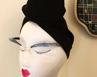 Vintage 1950s Blue Lucite Cat Eye Glasses Frame