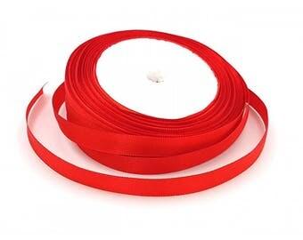 22 Red 10mm satin ribbon