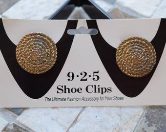 Vintage 9.2.5. Shoe Clips, Shoe Clips, Swirly Shoe Clips, Vintage Shoe Clips