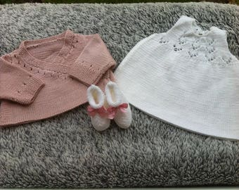 Cross my heart set dress and booties for 3 months