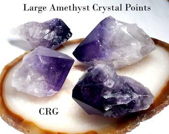 """Amethyst Points 1-1.5"""" Avg (GRADE A) 1/2 lb. (CRAMAS-8)"""