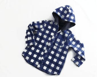 Boy's long sleeved hooded shirt, age 3